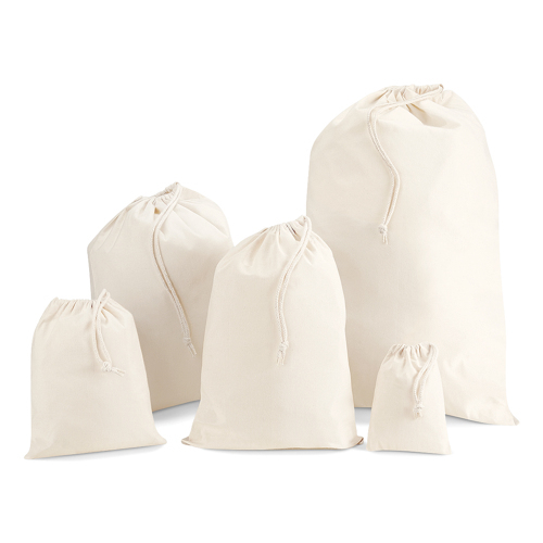 Cord bags unbleached cotton