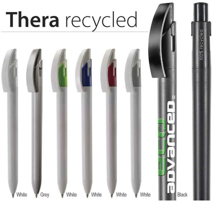 Thera logo pen recycled  ABS