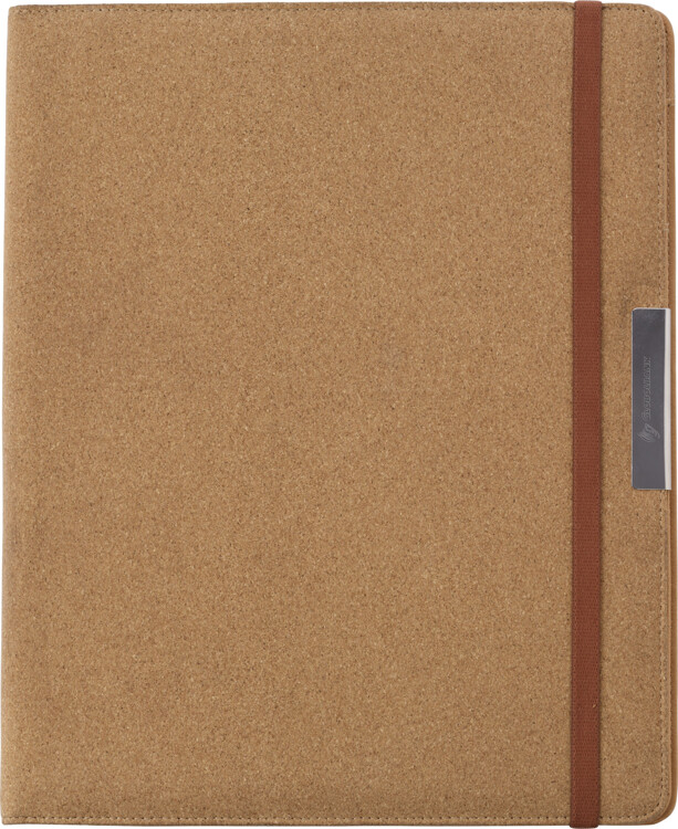 A4 writing case with cork cover