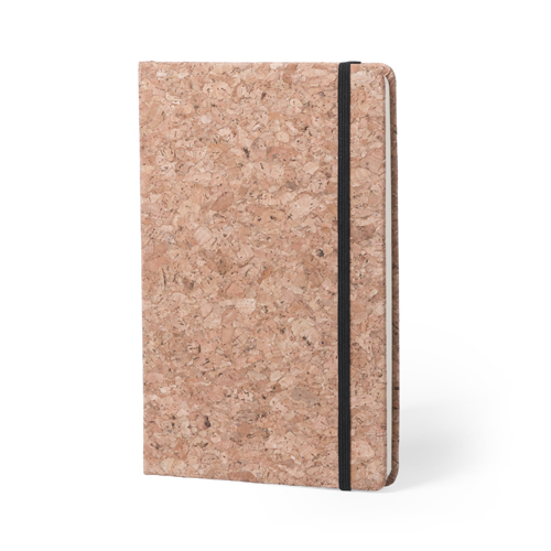 Notebook A5 with hard cover of natural cork.