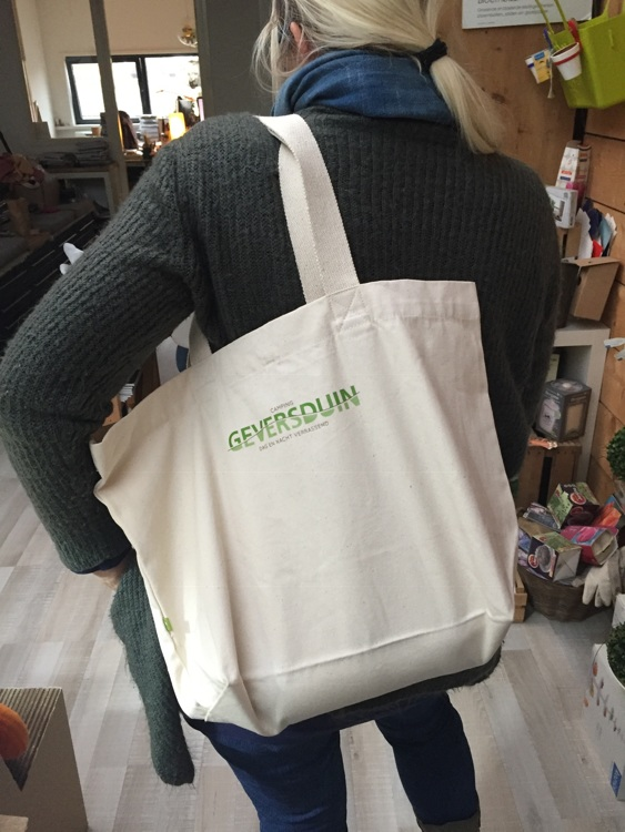 "100% organic cotton bag 340 grams certified ""EarthAware """