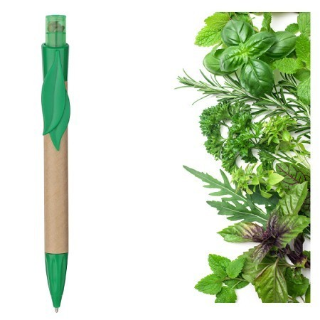 Pen with seed herbs or tomato