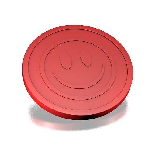 ECO Coin smiley Embossed Red