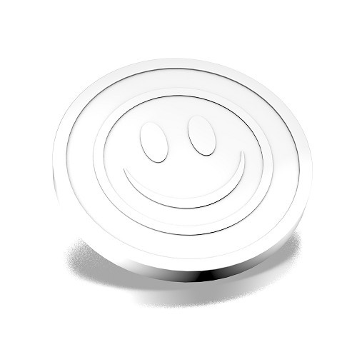 ECO Coin smiley Embossed white
