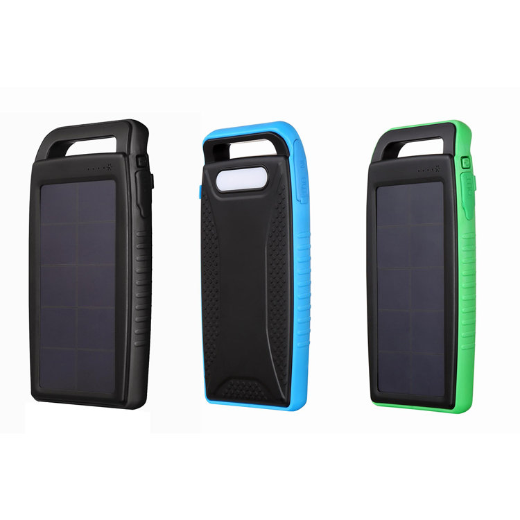 Solar Charger 10000 mAh Populaire in black color