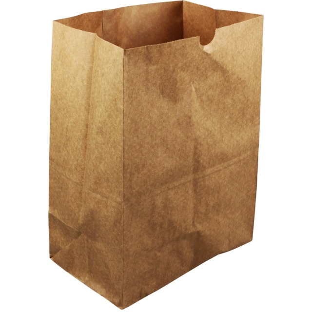 Kraft bags without handles, (32x43x18cm) with one color printing.