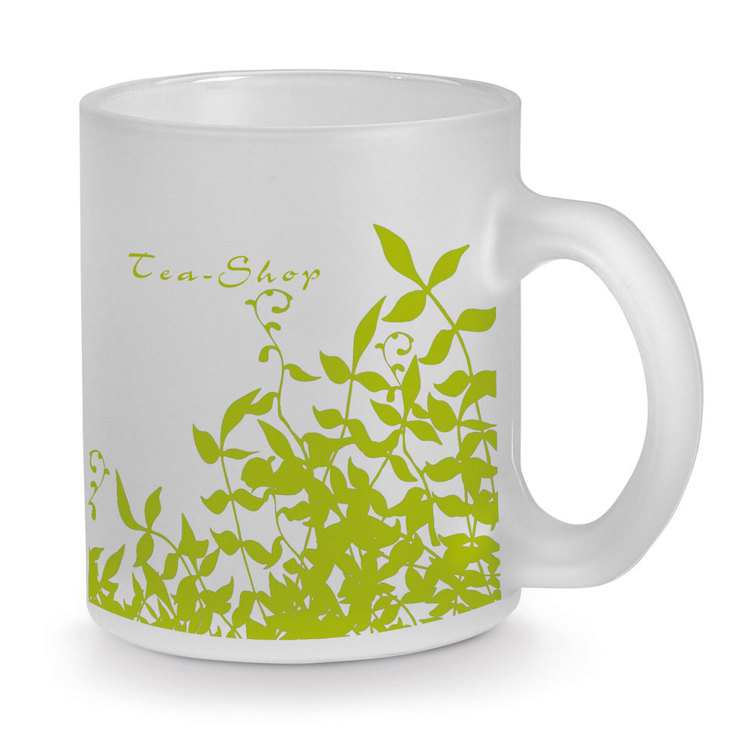Glass mug with sublimation